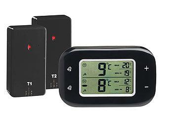 rosenstein s hne k hlschrank alarm digitales k hl gefrierschrank thermometer 2 funk. Black Bedroom Furniture Sets. Home Design Ideas