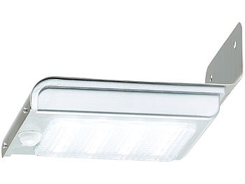luminea edelstahl led solar wandleuchte licht. Black Bedroom Furniture Sets. Home Design Ideas