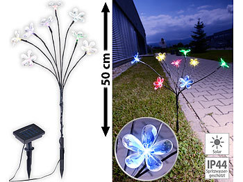 Farbige Kunststoff Glühbirne mit Solarzelle LED Terrasse Balkon Garten Licht