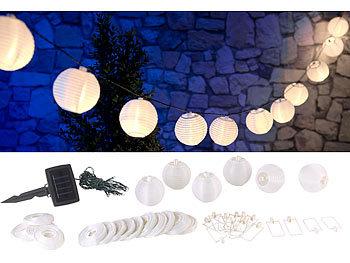 10 Lampion 15cm 20 LEDs LED Lichterkette Batteriebetrieb warmweiß Innen Außen