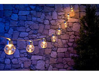Premium LED Solar-Lichterkette 2m Multicolor Bunte LED Solarkette LED Lichterket