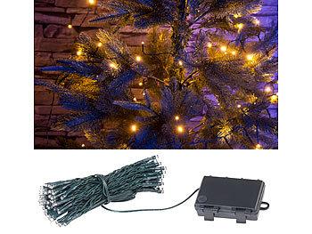 Lunartec Lichterkette kabellos: LED Lichterkette mit 100