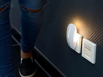 lunartec steckdosenlicht led steckdosen nachtlicht mit bewegungsmelder d mmerungs sensor. Black Bedroom Furniture Sets. Home Design Ideas