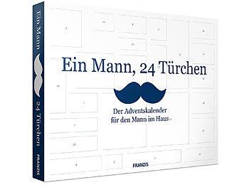 """FRANZIS Adventskalender """"Ein Mann, 24 Türchen"""" 2018 FRANZIS Männer-Adventskalender"""