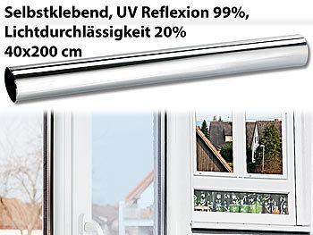 infactory spiegelfolie fenster isolier spiegelfolie sicht uv schutz 99 selbstklebend. Black Bedroom Furniture Sets. Home Design Ideas