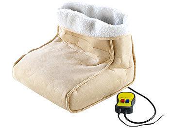 PEARL Wärmeschuhe elektrisch: Kuscheliger 2in1 Fußwärmer mit