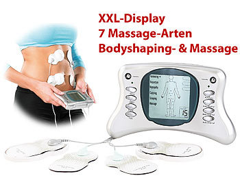 newgen medicals Premium Bodyshaping- & Massage-Gerät ESG-4013, grafisches XXL-Display newgen medicals Reizstrom Stimulatoren