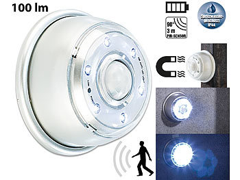 lunartec led sensorlicht led nachtlicht mit bewegungsmelder magnethalterung 4er set. Black Bedroom Furniture Sets. Home Design Ideas