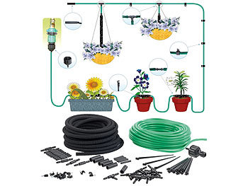 royal gardineer mini bew sserungssystem pflanzen bew sserungs system f r balkon terrasse und. Black Bedroom Furniture Sets. Home Design Ideas