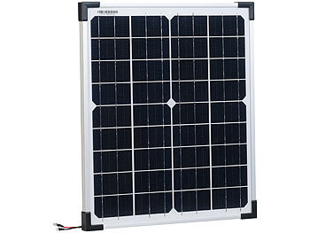 revolt mobiles solarmodul mobiles solarpanel mit monokristallinen solarzellen 20 watt. Black Bedroom Furniture Sets. Home Design Ideas