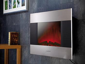 carlo milano elektrokamin wand premium elektro kamin sonora f r wand und standmontage 90x56. Black Bedroom Furniture Sets. Home Design Ideas