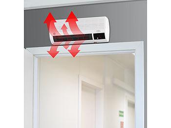 Sichler Badheizlufter Kompakter Wandheizlufter Mit Fernbedienung Thermostat 2 000 Watt Wandheizlufter Bad
