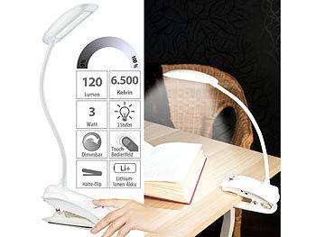 lunartec klemmlampe schwanenhals klemm lampe mit 3 watt cob led und akku usb ladefunktion. Black Bedroom Furniture Sets. Home Design Ideas