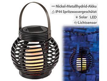 Kugelförmige Solar-LED-Dekoleuchte aus Polyrattan Solar Lampions
