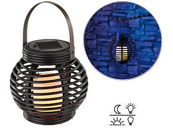 lunartec garten licht solar led rattanleuchte zum h ngen oder stellen 2er set solar led. Black Bedroom Furniture Sets. Home Design Ideas