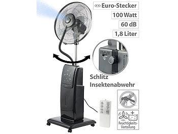 Sichler Haushaltsgeräte SprÃhnebel-Standventilator mit Anti-Insekten-Funktion, 100 W, à 40 cm Sichler Haushaltsgeräte SprÃhnebel-Standventilatoren mit Anti-MÃcken-Funktion