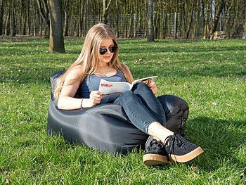 semptec aufblasbares sofa aufblasbarer lounge sessel f r den au enbereich tragetasche 120 cm. Black Bedroom Furniture Sets. Home Design Ideas