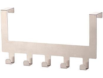carlo milano t rhakenleiste edelstahl t rgarderobe mit 5 haken f r t ren bis 4 5 cm dicke. Black Bedroom Furniture Sets. Home Design Ideas