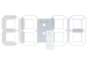 Lunartec Led Uhr Schlafzimmer Digitale Xxl Led Tisch Wanduhr 45