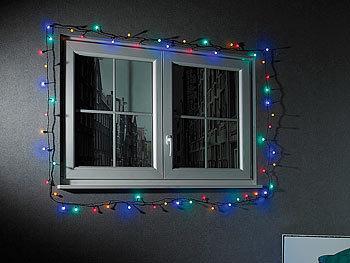 Lunartec led lichterkette rgb mit controller ip44 9 m bunt - Lichterkette am fenster aufhangen ...