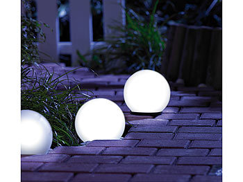 Lunartec Leuchtkugeln Garten Solar Glas Leuchtkugel Mit Leds Dammerungsautomatik O 9 Cm Led Solarkugel