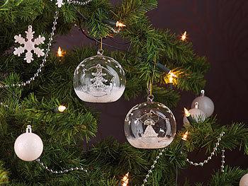 lunartec weihnachtskugeln mundgeblasene led glas ornamente in kugelform 2er set. Black Bedroom Furniture Sets. Home Design Ideas