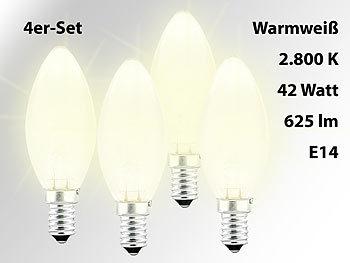 luminea halogen licht e14 halogen kerze e14 42 watt. Black Bedroom Furniture Sets. Home Design Ideas