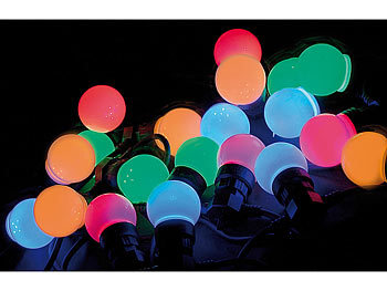 Lunartec Partylichterkette: Party Lichterkette, 20 bunten