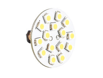 Luminea LED-Stiftsockellampe G4 (12V), 15 SMD LEDs warmweiß, horizontal, 120° Luminea LED-Stifte G4 (warmweiß)