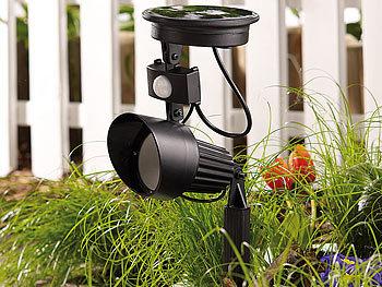 lunartec solar led spotlight automatischer solar led spot mit pir bewegungsmelder 1w led 4er. Black Bedroom Furniture Sets. Home Design Ideas