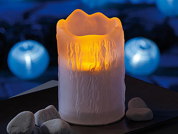 lunartec lunartec solar led lampe melting candle gefrostetes glas 4er set. Black Bedroom Furniture Sets. Home Design Ideas