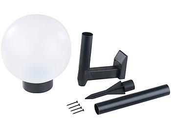 lunartec solar kugellampen garten 4er set led solar kugellampe 20 cm klein tageslichtwei. Black Bedroom Furniture Sets. Home Design Ideas