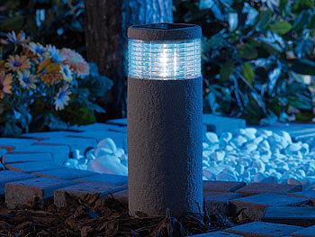 lunartec maxi solar led gartenleuchte grey stone 30 cm hoch. Black Bedroom Furniture Sets. Home Design Ideas
