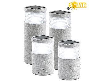 lunartec solar led gartenleuchte gartenleuchten grey stone mit lichtsensor mini und maxi. Black Bedroom Furniture Sets. Home Design Ideas