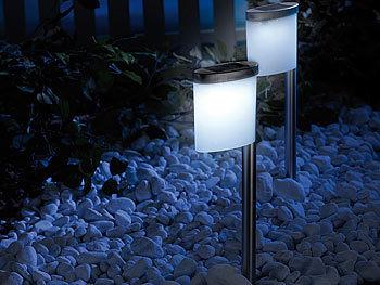 lunartec solar led wegeleuchte slim light im 2er set. Black Bedroom Furniture Sets. Home Design Ideas