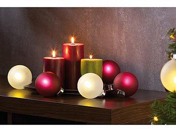 Beleuchtete Christbaumkugeln.Lunartec Weihnachtsbaumkugeln Beleuchtete Weihnachtsbaum Kugeln Aus