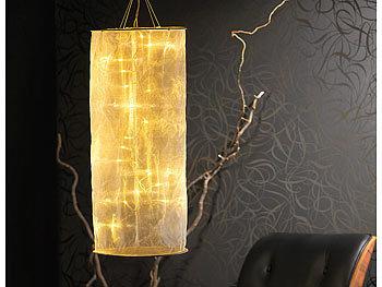 Lunartec Lichtsäule: Organza Lichterschlauch Skulptur mit 20