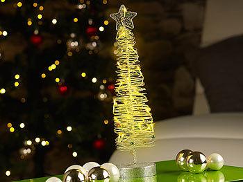 Lunartec LED Weihnachtsbaum: Leuchtender Weihnachtsbaum 40cm aus ...
