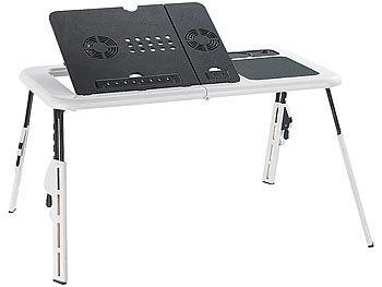 Notebooktisch mit 2 USB-Lüftern, klappbar / Laptoptisch