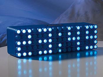 infactory moderne led wecker led designer wecker blue 24 led wecker digital design. Black Bedroom Furniture Sets. Home Design Ideas