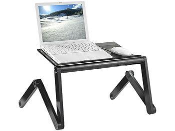 Hochflexibler Alu-Arbeitstisch für Notebook, Tablet etc / Laptoptisch