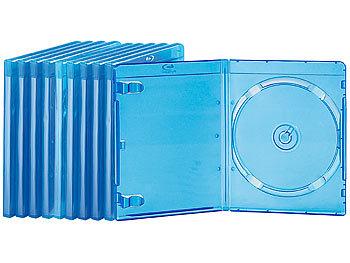 Blu-ray Slim-Soft-Hüllen blau-transparent im 10er-Pack für je 1 Disc / Blu Ray Hüllen