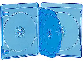 Blu-ray Soft-Hüllen blau-transparent im 10er-Pack für je 4 Discs / Blu Ray Hüllen