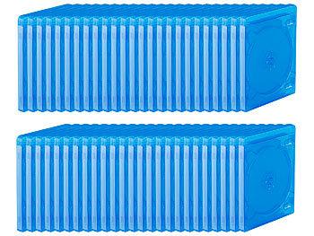 Blu-ray Soft-Hüllen blau-transparent im 50er-Pack für je 4 Discs / Blu Ray Hüllen
