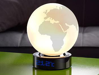 infactory designer tischlampe weltkarte mit integriertem wecker. Black Bedroom Furniture Sets. Home Design Ideas