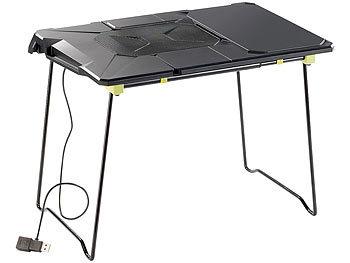 Ausziehbarer Notebooktisch mit Lüfter, 38 - 49 cm breit / Laptoptisch