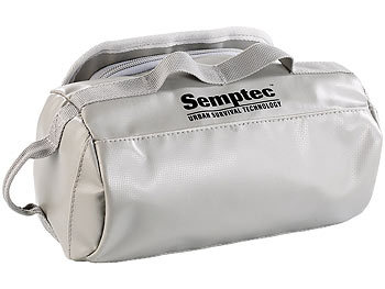 Semptec Urban Survival Technology Wasserdichter Kulturbeutel aus Lkw-Plane, Aufhänge-Haken, 12x14x11 cm Semptec Urban Survival Technology