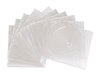 CD Slim Soft Hüllen im 10er-Set, transparent CD-Jewel-Case