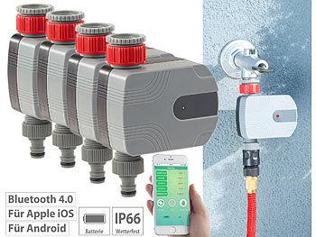 4er-Set Bewässerungscomputer mit Bluetooth und App-Steuerung