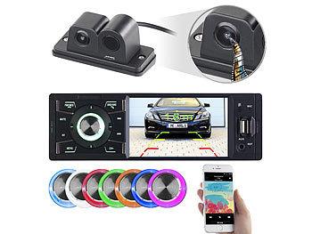 MP3-Autoradio mit TFT-Farbdisplay und Farb-Rückfahrkamera / Autoradio